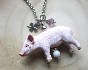 Chain pig lucky Pig stainless steel
