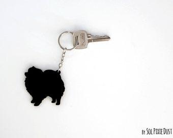 Pomeranian Keychain Silhouette