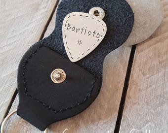 Personalized guitar pick and pouch