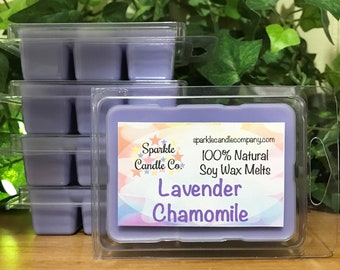 Soy Wax Melts LAVENDER CHAMOMILE Scented Wax Tarts 1 package Aromatherapy