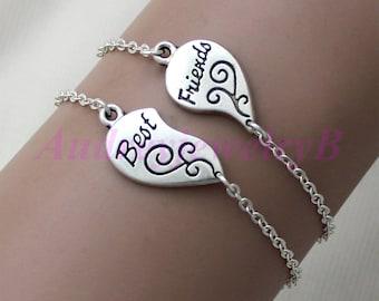 Best friend  Bracelets,Best friend Jewelry , Heart Bracelet,Best friend , Gifts for Best friend,BFF Bracelets