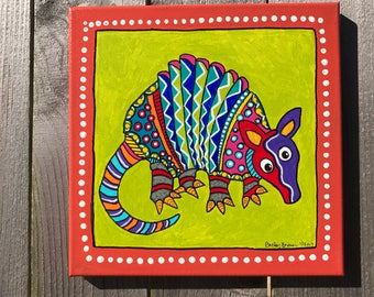 Texas Folk Art Armadillo