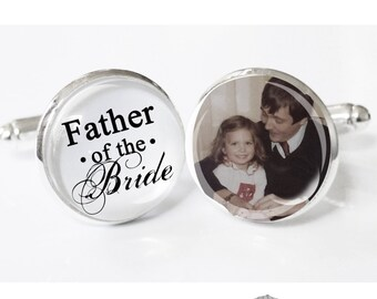 Father of the Bride Gift - Gift from Bride - cufflinks - wedding cuff links - gifts for dad - gift ideas Dads - Father of the Bride ideass