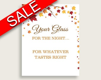 Your Glass For The Night Bridal Shower Your Glass For The Night Fall Bridal Shower Your Glass For The Night Bridal Shower Autumn Your YCZ2S