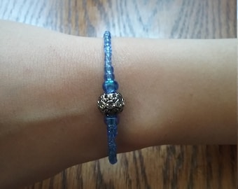 Delicate blue glass bracelet on sale was 14.95 now 13.25
