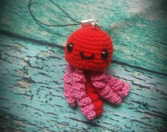 Mini Crochet Jellyfish Keychains