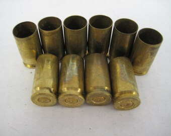 Spent Bullet Shell Casings 9mm by Winchester....Great for jewelry crafts or decorative arts....10ct. lot size