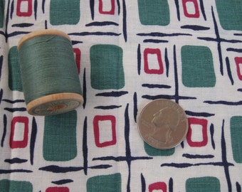 Antique Vintage Quilt Feedsack Fabric Bundle Scraps Novelty  & Spool of Thread