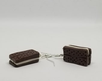 Ice Cream Sandwich Dangle Earrings