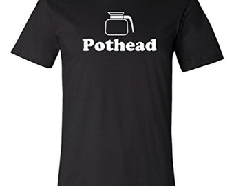 Pothead Coffee T-shirt | Funny Coffee Shop Tee