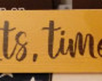 In these moments, time stood still Hand Painted Sign, Rustic Farmhouse Decor, Fixer Upper Style, Cottage Style Decor, Gallery Wall Sign