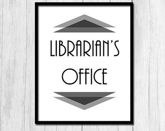 Librarian Gift Printable Art Gift for Librarian Digital Download Library Art Office Wall Art Library Instant Download Library Art