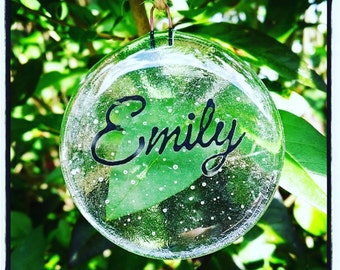 Personalised Clear Bauble