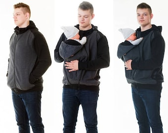 Babywearing 2in1 Wear jacket for men/Papa Jacket