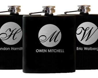 Personalized Groomsmen Gifts, 10 Flasks Groomsman Gifts, Custom Flask Wedding Party Gift, Bachelor Party Gift for Groom, Flask Best Man Gift