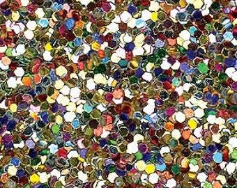 Glitter Fabric. Metallic Allsorts. 100cm x 130cm. JR08986