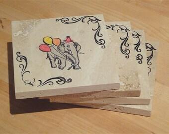 Fun Circus Coasters - Set of 4