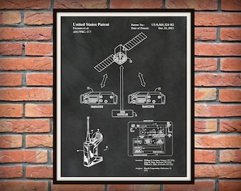 Patent AN/PRC-117F/G Army/Navy Portable Communications Radio - Soldier Wall Art - Army - Navy Wall Art - Military Combat Radio - Harris RF