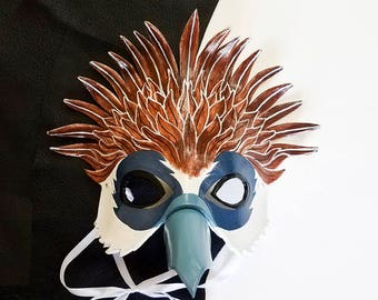 Leather Philippine Eagle Mask - Made to Order