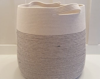 Made to Order XXL Rope Basket with Handles (Now Available in 3 Sizes)