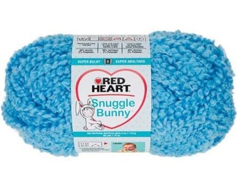 Red Heart Snuggle Bunny yarn bluebird color
