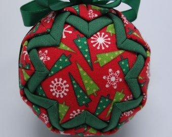 Quilted Fabric Ornament Christmas Trees Pine