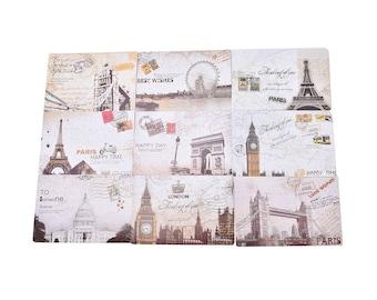 Wedding Vintage Travel Landscape Postcard blank on the back ideal for wedding guestbook