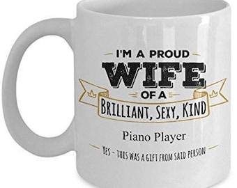 Gifts For Piano Player, Piano Player Mug, Piano Player Gift, Wife Coffee mug, Wife gifts, Husband to wife gift, Birthday Gift