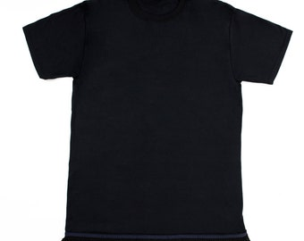 Black Fringed Tshirt