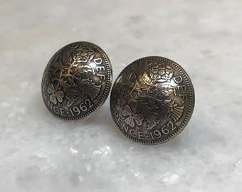 British Sixpence Earrings