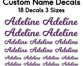 Vinyl Name Decal Set, Back to School Name Labels, Name Decals, School Supply Labels, Custom Name Labels, Name Labeling Set, School Label Set