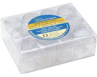 Darice Jewelry Designer Bead Storage System Plastic Clear  4.75 x 6.38 x 2.06 Storage Box