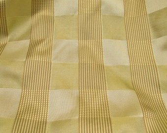 "Pale Apple Green Plaid: Bold Plaid Design - Woven Silk Fabric, 28"" x 30"" Square"