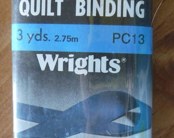 Wrights Black Double Fold Quilt Binding