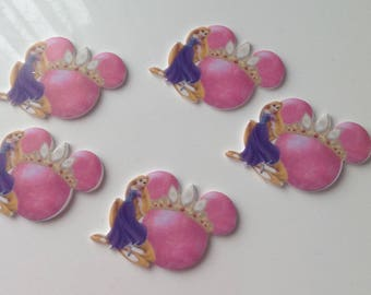 3 CABOCHONS APPLIQUE Princess 46x40mm