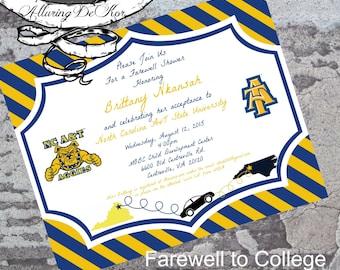 Farewell to College Invitation
