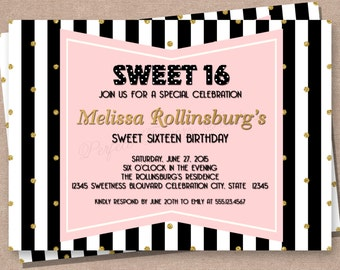 Sweet 16 invitation teen birthday invitations 16th birthday sweet 16 invitation sweet sixteen sweet 16 teens birthday invitation teen girl filmwisefo Gallery