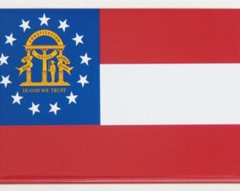 Georgia State Flag Fridge Magnet