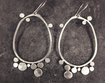 Pebbled Oval Earrings