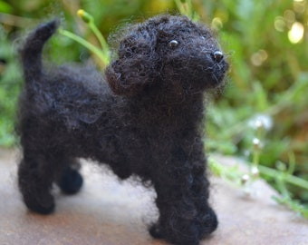 OOAK Handmade Needle Felted Portuguese Water Dog
