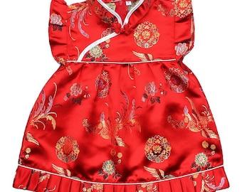 Baby Toddler Cheongsam Dress Chinese New Year