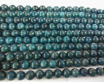 8mm Round Apatite Beads Genuine Natural 15''L 38cm Loose Beads Semiprecious Gemstone Bead   Supply