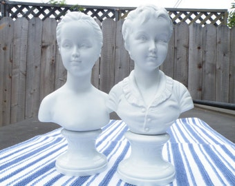 Boy and Girl Busts Vintage