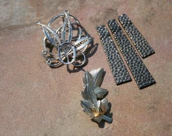 Metal Brooch and Metal Ladder Pendants Mixture  (5)