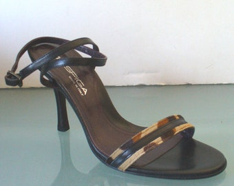 Made in Italy Via Spiga Ankle Strap Sandal Heels Size 6M US