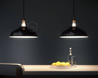 "Pendant lamp, ""Harbour pendant"", metal lighting, Bar lighting, industrial, minimalist Lamp, Loft, (includes 1 Led filaments)"