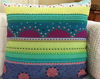 "18x18 decorative pillow ""Rainbow of Color"""