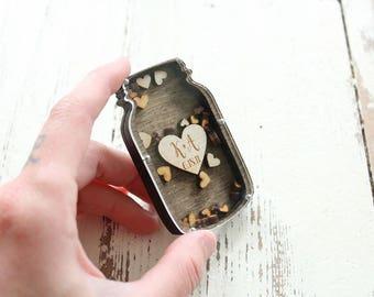 Mason Jar Magnet Mason Jar Wedding Favor Mason Jar Wedding Gift