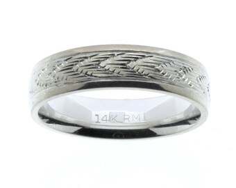 Western wedding rings engraved gold band ring wedding bands