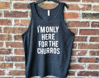Churros Tank, Disney Churros, Disney Snacks,  Snack Goals Tank, Disney Tank, Mens Disney Tank, Dole Whip, Churro, Churros